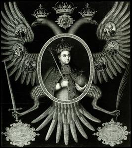 Portret van Tsarina Sophia  Alekseyevna van Rusland (1657-1704)