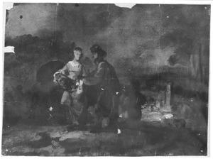 Eliezer en Rebecca bij de bron (Genesis 24:15-22)