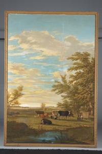 Rustende koeien in de wei
