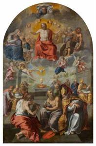 Allegorie op de Roomskatholieke geloofsleer en de basis van de kerk