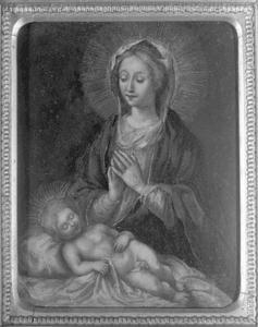 Madonna bidden op de slapende kind