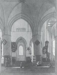 Interieur van de St. Bavo kerk te Haarlem