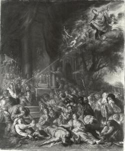De heilige Cajetanus grijpt in tijdens de pest in Napels