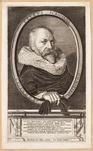 Portret van Petrus (Pieter) Scriverius (1576-1660)