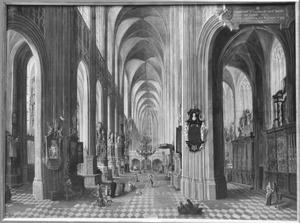 Interieur van de St. Pieterskerk te Leuven