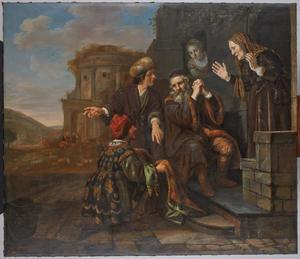 Jacob wordt de bebloede rok van Jozef getoond (Genesis 37:32-33)