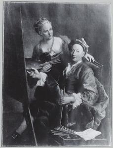 Portret van Georges Desmarees (1697-1776) en Maria Antonia de Marees (....-....)