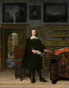 Portret van een man, mogelijk Jonas Witsen I (1647-1675)