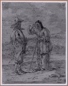Quevedo en de oude vrouw met de rozenkrans (Suenos 1641, boek II, vierde droom)