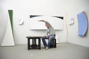 Jan Maarten Voskuil in zijn atelier