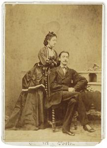 Portret van Carel Jan Emilius graaf van Bylandt (1840-1902) en Sophie Alexandrine van der Staal (1849-1891)