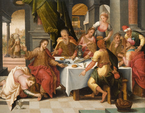 Christus in het huis van Simon de Farizeeër