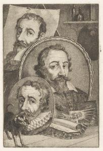 Portretten van Johann Sadeler (1550-1600), Aegidius Sadeler (1570-1629) en Raphael Sadeler I (....-....)