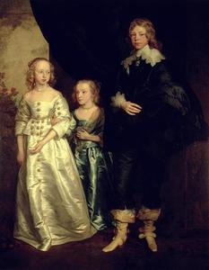 Portret van William (1626-1695), Anne (1629-1696) en Arabella 1630-1689) Wentworth, de kinderen van de Earl of Strafford