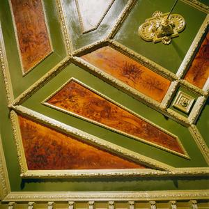 Beschilderde vakken van een plafond