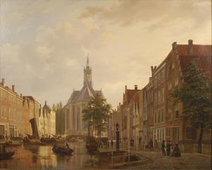 De Nieuwe Kerk gezien vanaf de Turfmarkt te Den Haag