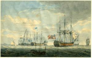 Engelse oorlogschepen voor anker bij Spithead