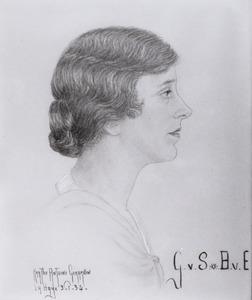 Portret van Gerardine Beelaerts van Emmichoven (1886- )