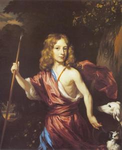 Portret van een jongen als de jager Adonis