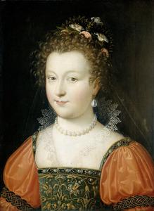Portret van een dame, zogenaamd Elisabeth I, koningin van Engeland (1533-1603)
