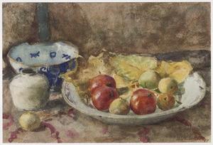 Stilleven met appels in een schaal