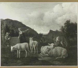 Landschap met vee en twee herders