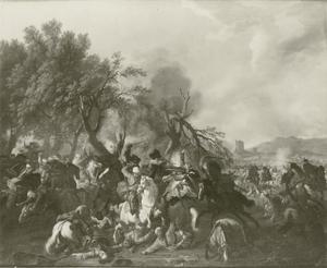 Ruitergevecht bij de bosrand