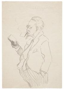 Karikatuur van Cornelis Hofstede de Groot (1863-1930)