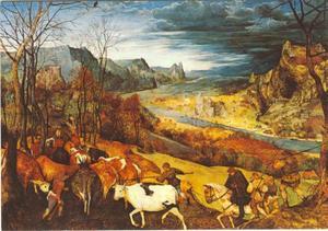 Het terugdrijven van het vee (oktober/november)