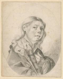 Zelfportret van Dirck Helmbreeker (1633-1696)