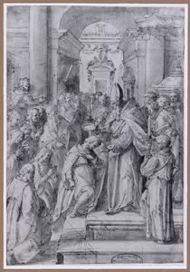 H. Ambrosius doopt de H. Augustinus