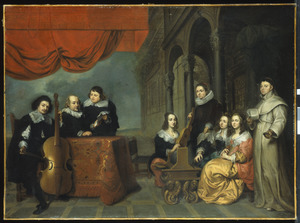 Groepsportret van een onbekende musicerende Antwerpse familie