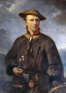 Portret van Carolus Linnaeus (1707-1778) in Laplandse dracht