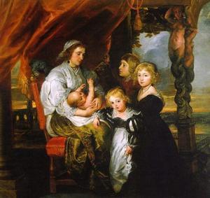 Portret van de familie van Balthasar Gerbier