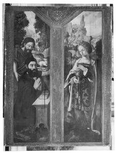 De H. Johannes de Doper met een stichter (links), de H. Maria Magdalena (rechts)