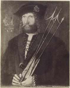 Portret van een man met drie pijlen