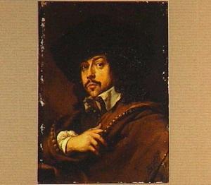 Portret van een man met een hoed op
