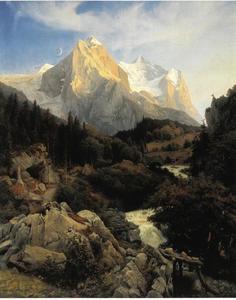Gezicht op de Wetterhorn