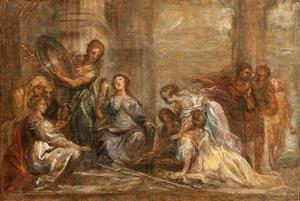 Achilles en de dochters van Lycomedes