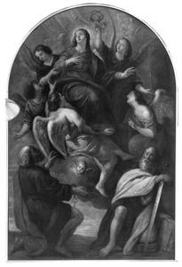 De tenhemelopneming van Maria in het bijzijn van de HH. Petrus en Paulus