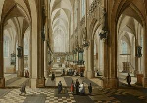 Interieur van de Onze Lieve Vrouwekerk in Antwerpen