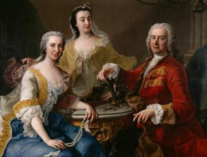 Portret van Joseph de France (1691-1761) met zijn familie
