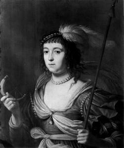 Portret van Amalia van Solms (1602-1675) als Diana