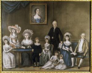 Portret van de familie van Willem Straalman (1723-1799)