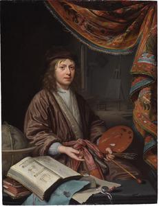 Zelfportret van Michiel van Musscher (1645-1705) of van Domenicus van Tol (....-1676)