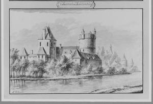 Voor- en rechterzijde van het kasteel Culemborg