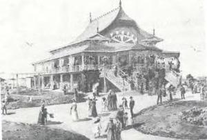 Figuren bij het paviljoen