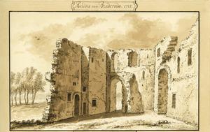 Ruïne van kasteel Brederode vanuit het oosten (?)