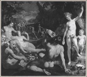 Het gouden tijdperk/ Aetas Aurea: de gelukkige mensheid onder de heerschappij van Saturnus