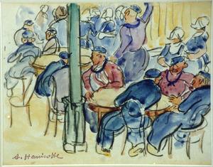 Kermis in een café te Volendam